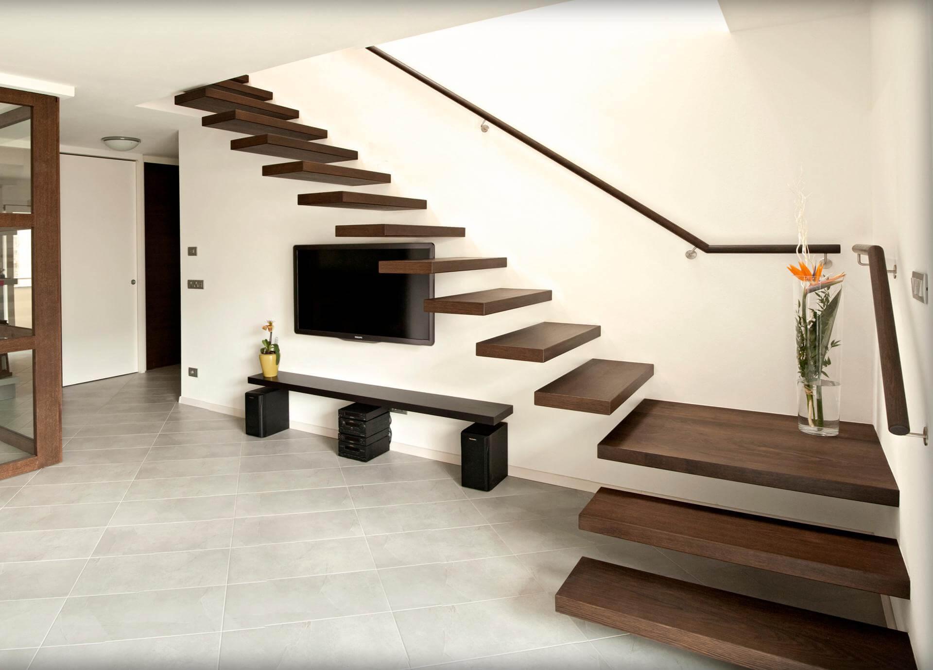 Freischwebende Treppe auskragende freischwebende stufen