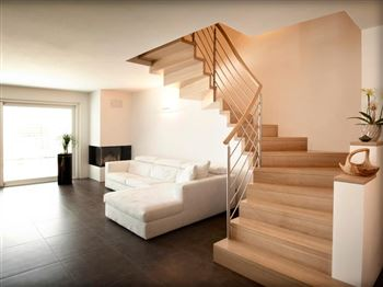 treppe k che. Black Bedroom Furniture Sets. Home Design Ideas